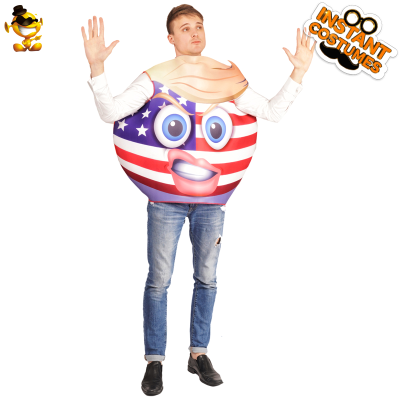 Home Adult Unisex National Flag Clothing Emoji American Angry Face Jumpsuit Costume Fancy Dress In Carnival Party Role Play Can Be Repeatedly Remolded.