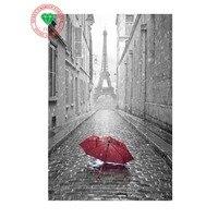 Wholesale 5D Diy Crafts Diamond Painting Diamond Embroidery Landscape Red Umbrella Eiffel Tower Diamond Pattern Diy