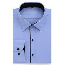Плюс Размеры платье рубашка Для мужчин 8XL 7XL 6XL Высокая хлопковая с длинным рукавом легкий Средства ухода Slim Fit офисные рубашки для Для мужчин CHEMISE Homme 2017