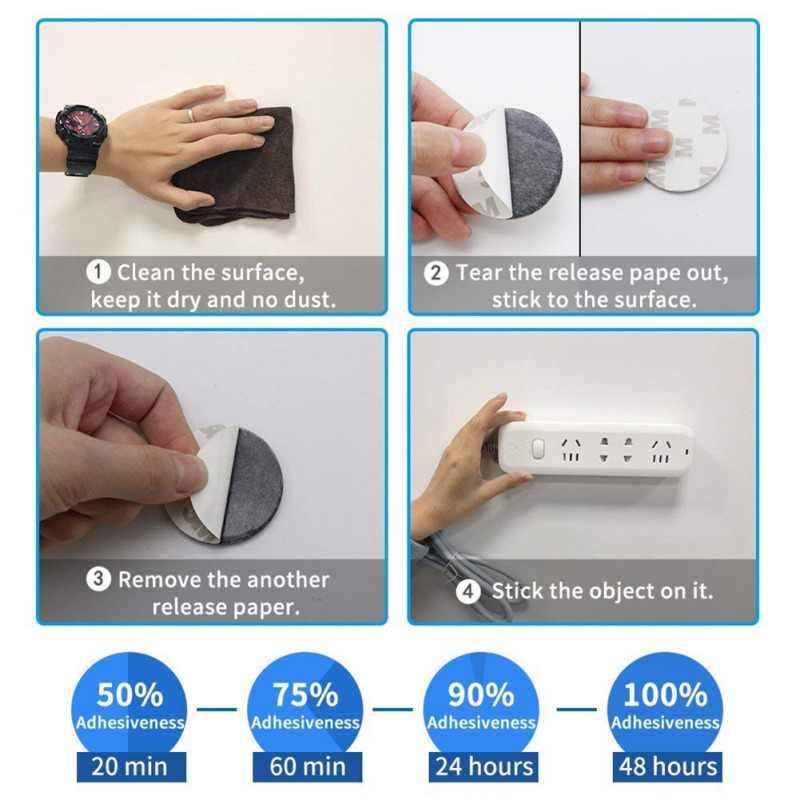 60 pcs Dubbelzijdig Plakband Dikke Waterdichte Hittebestendig Schuim Sticker Voor Huishoudelijke Auto DIY Accessoire