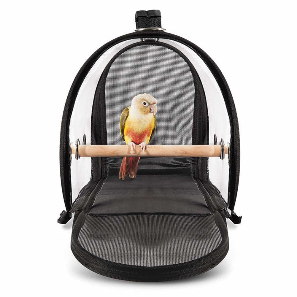 Parrot Cage Outdoor Pet Supplies Practical PVC Breathable Handbag Travel Bird Carrier With Handle Portable Transparent