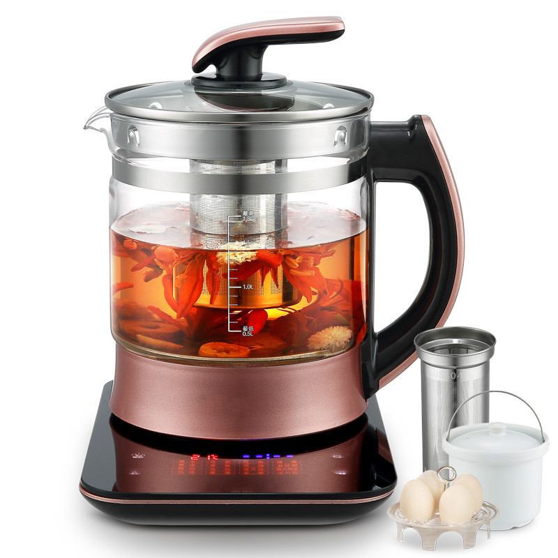 Electric kettle Bird's nest pot - water stewing and raising pot, automatic thickened glass multi-function stewed tea ware cerami health raising pot fully automatic thickened glass multi function tea ware mini body electric heating kettle ware