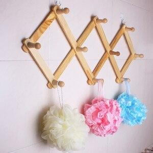 Регулируемые деревянные вешалки для одежды, дверной крючок-вешалка для хранения, держатель для ключей, органайзер для декора пальто и дома