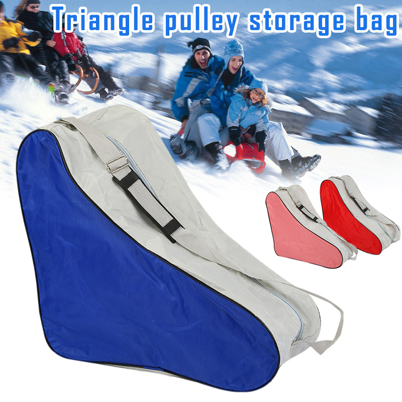 1Pc Portable Adjustable Triangle Durable Roller Skating Bag Handle Sport Covers Universal Shoulder Strap Carry Case Park Outdoor Skiing Bags     - title=