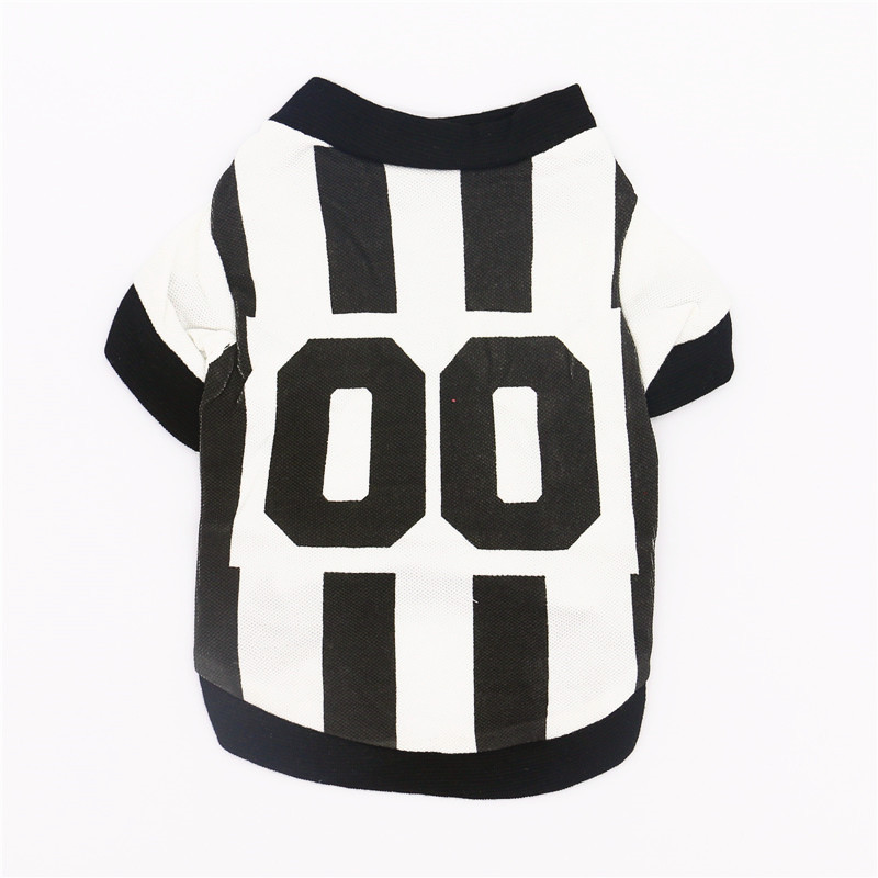 Football Pets Cat Dog Clothes Summer Soccer Costume Dogs Vest Sportswear T-shirt Chihuahua Poodle Puppy Clothing Drop Shipping For Improving Blood Circulation Dog Vests Dog Clothing & Shoes
