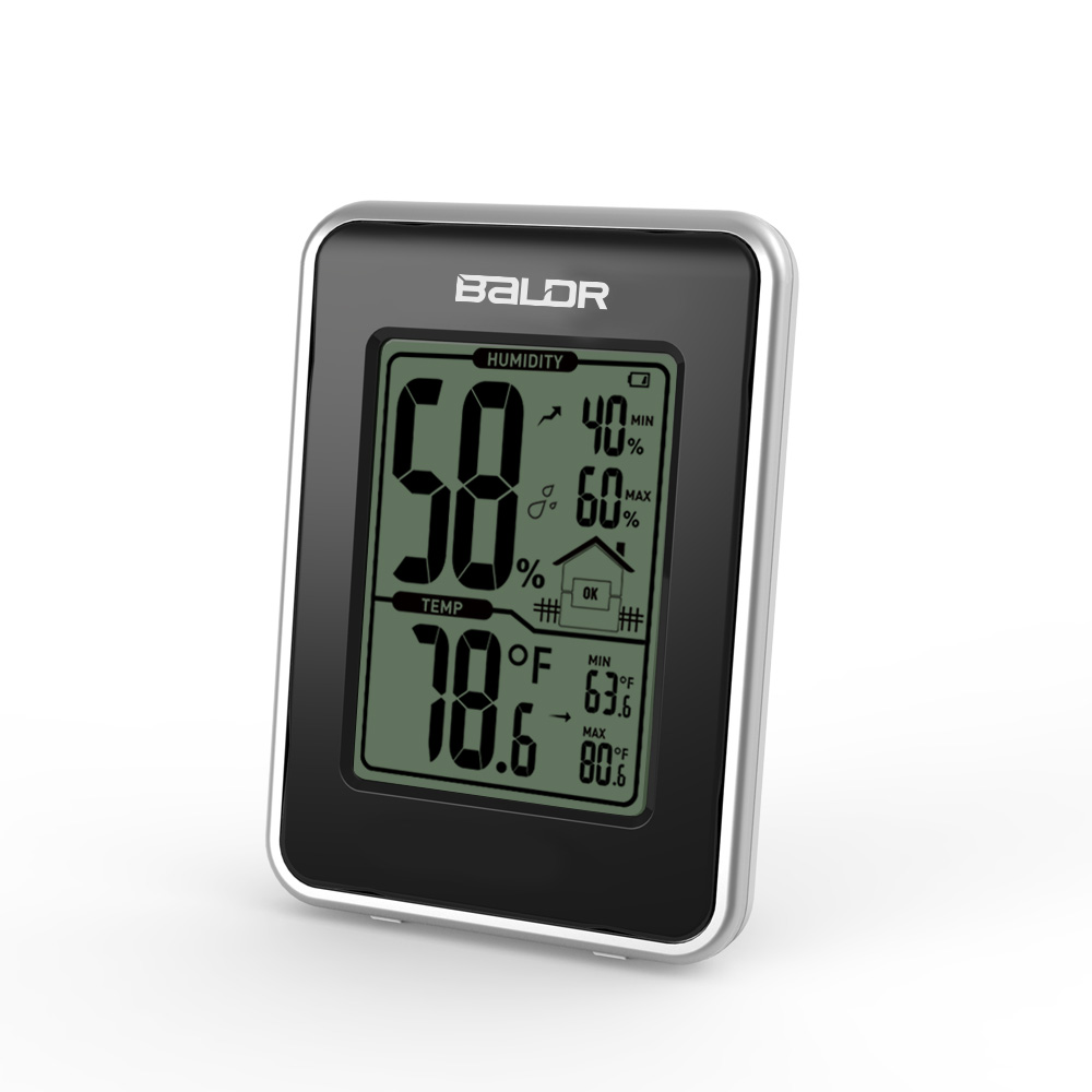 Digital Thermometer Hygrometer Temperature Sensor Humidity Meter Indoor MIN/MAX Records Home Monitor LCD Weather Station lcd digital temperature humidity moisture meter weather station indoor