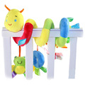 Colorful baby cradle bed wound rings sheep hanging plush infant cartoon animal friends toys gift bed hanging toy
