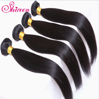 shireen Straight Human Hair 1 Bundles 8 26 inch Brazilian Hair Weave Bundles 100% Remy Hair Extensions Natural Color Can Be Dyed