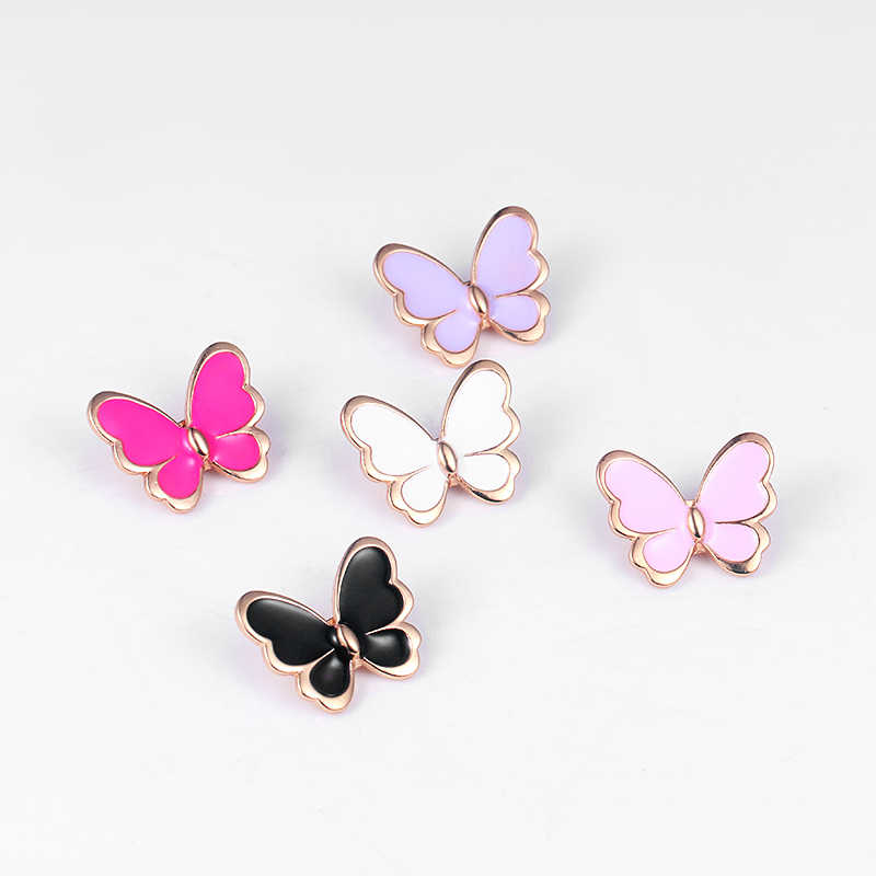 New Style Charming Enamel Insect Butterfly Brooch Pin for Women Lady Bouquet DIY Jewelry Accessories