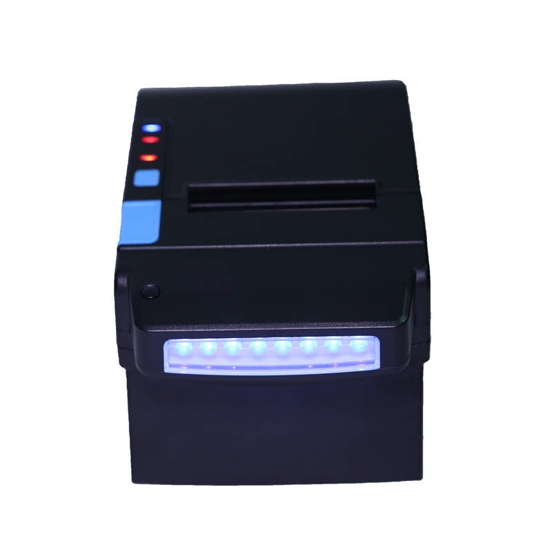 POS printer With Automatic paper cutter function Money Detector 300mm/s 80mm thermal printer receipt Small ticket barcode GZ8003 5pcs 80mm pos printer high speed thermal receipt printer automatic cutting usb ethernet ports 300 mm s dhl