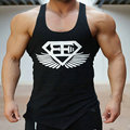 2016 Nuevos Mens Hombres bodybuilding Tanque Stringer Singlets tops Gimnasio Stringer Chaleco Sin Mangas de Los Hombres sin mangas jersey