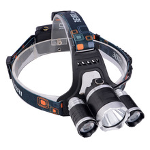 Hot Sale Portable Headlamp 3 LED 5000 Lumens Bright Hiking Camping Tent Lantern Lamp Light Fishing