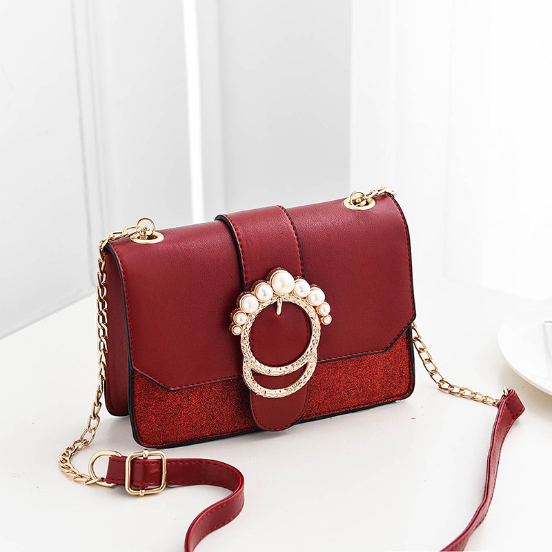 New Bags for Women Classic Chic Style Elegant Fashion Crossbody Bag Solid Color Wine Red Pink Black Grey Girl Flap chic solid color round coin bracelet for women
