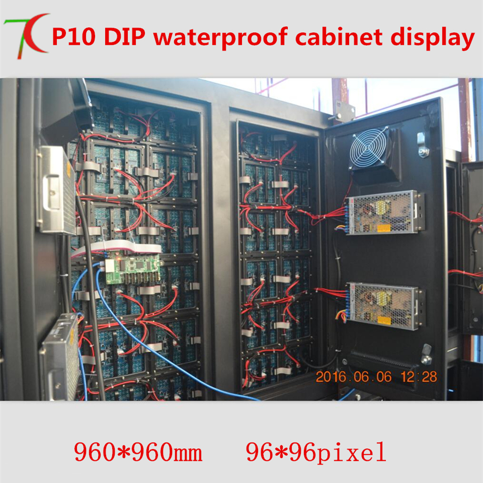 960*960mm P10 DIP Waterproof  Cabinet Display For Outdoor Advertisement
