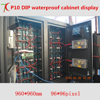 960 960mm P10 DIP Waterproof Cabinet Display For Outdoor Advertisment
