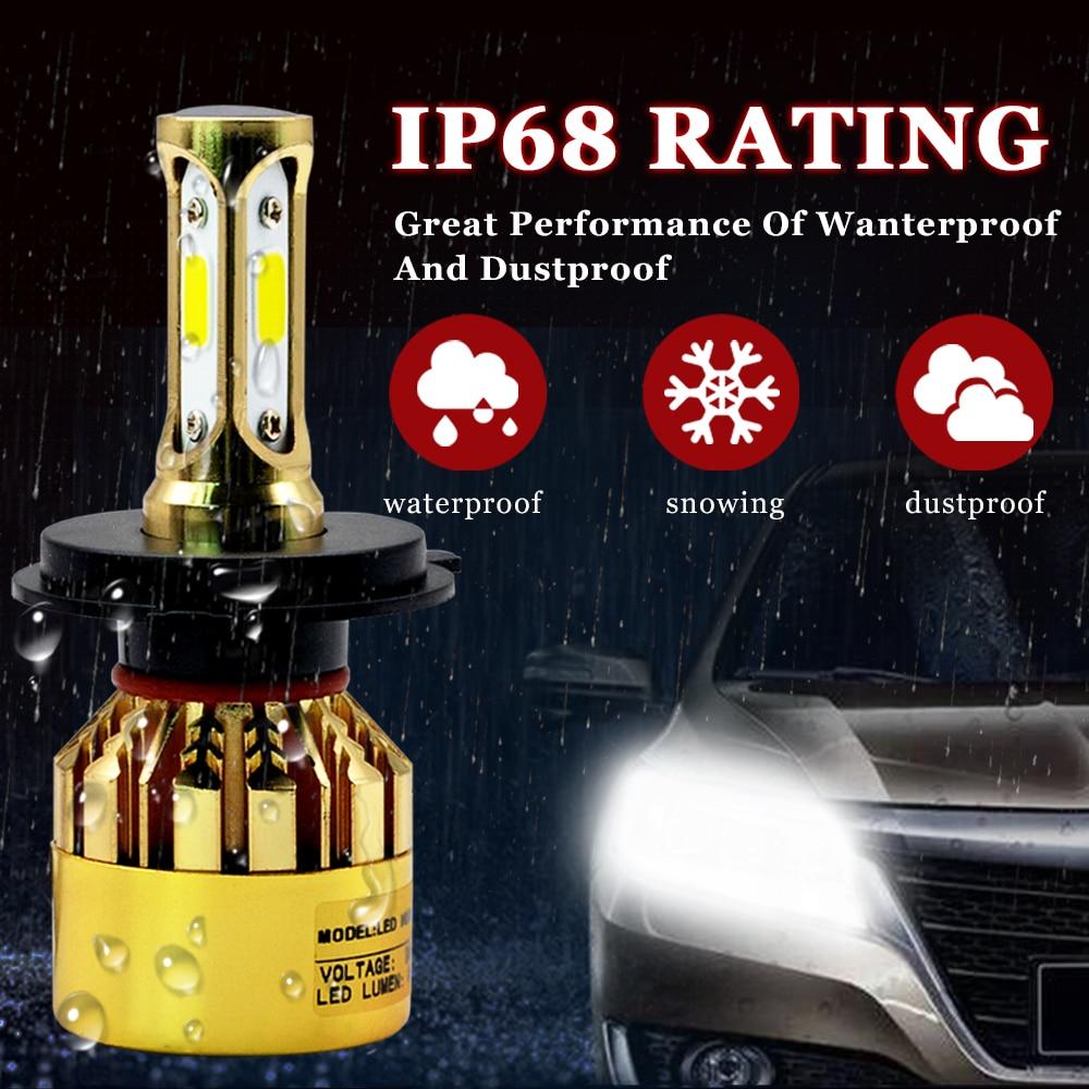 H7 LED-glödlampa H1 H4 H3 H11 Bilstrålkastarlampor S500 Golden - Bilbelysning - Foto 6