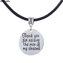 858d464a44a Merci d avoir élevé les hommes de mes rêves charme mères pères enseignants  cadeaux perles