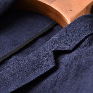 Image 3 - Nouveauté lin jeunes hommes mode décontracté automne porter mince marée marque décontracté Super grand haute qualité unique costume taille M 3XL 4XL