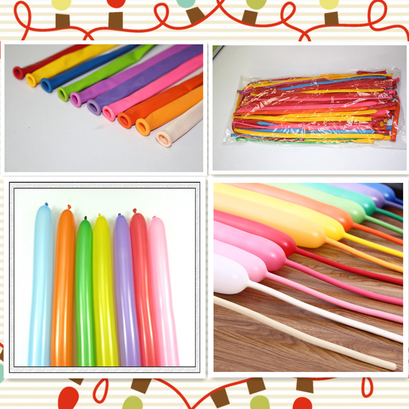100pcs/lot Good quality Magic Balloons Modelling Latex balloons Creative Long Balloons for Birthday Weeding Party Toys