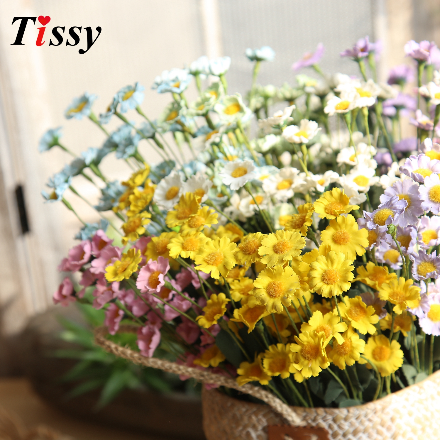 15 headbranch fresh daisy flowers artificial silk flowers fake 15 headbranch fresh daisy flowers artificial silk flowers fake flowers gifts diy home vases decoration wedding party decoration in artificial dried izmirmasajfo