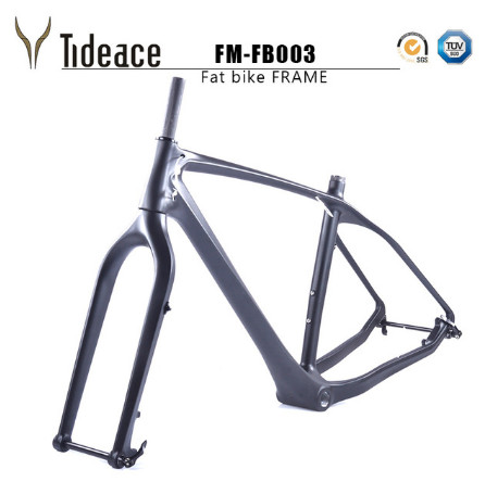 2017 Free Ship Carbon Bike Bicycle Frame With Fork 26er BSA Carbon Snow Bicycle Frameset Carbon Bike Bicycle Frame