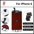 10 шт./лот 100% Нет Мертвых Пикселей для IPhone 6 ЖК 4.7 Дисплей С Сенсорным Экраном Дигитайзер Ассамблеи Замена Черный или Белый + инструмент