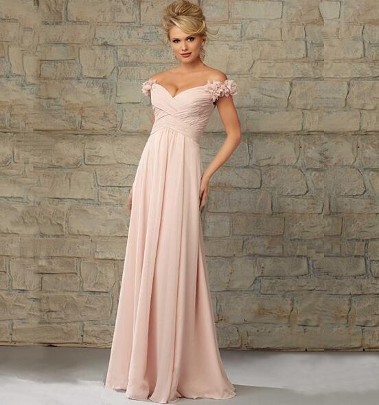 25fbd7b56b L0022 Beautiful Women Customized Long Simple Elegant Evening Dresses Formal  Off-shoulder Nude Pink Gown