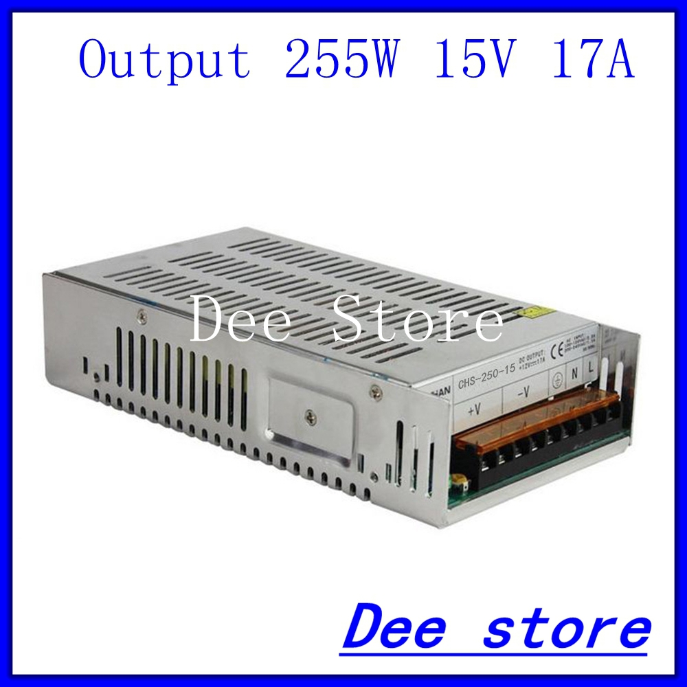 Led driver 250W 15V 17A Single Output Switching power supply unit for LED Strip light AC-DC Converter led driver 1200w 24v 0v 26 4v 50a single output switching power supply unit for led strip light universal ac dc converter