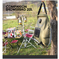 Outdoor Bath Water Bag Portable Outdoor Bathing Bag 20L Water Bag For Travel Hiking BBQ