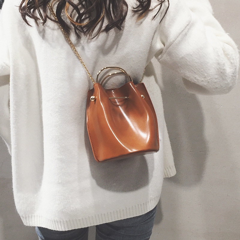Women PU Leather Shoulder Bag Satchels Handbag Messenger Ladies Girls Crossbody Bag Chain Trendy Small Shopping Female Handbag