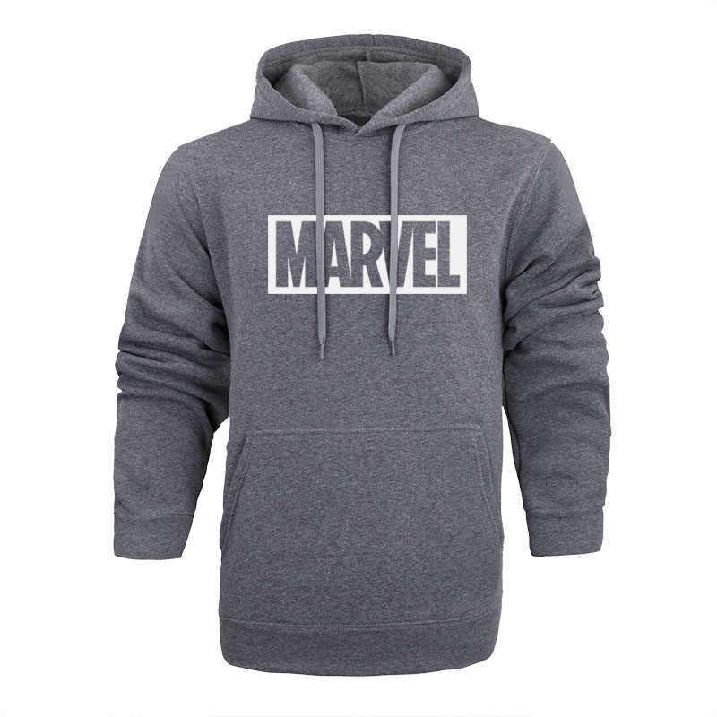 Brand 2018 New Women/Men's Casual Marvel Print Hedging Hooded Fleece Sweatshirt Hoodies Pullover clothing Size M-XXL