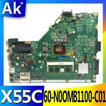 AK X55C 4 Гб Оперативная память памяти Материнская плата Asus X55C X55CR X55V X55VD Материнская плата ноутбука DDR3 60-N0OMB1100-C01 100% Тесты