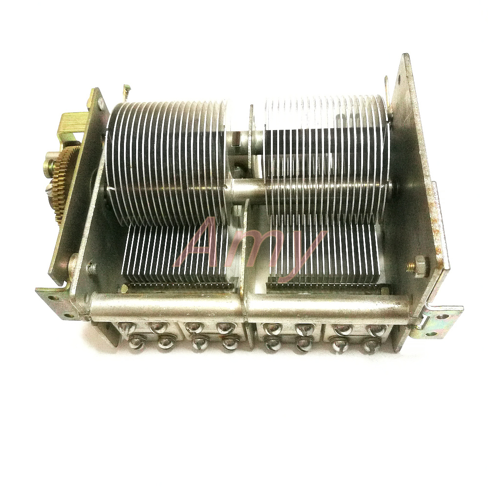 Double disassemble variable capacitor with gearbox 26PF 810PF