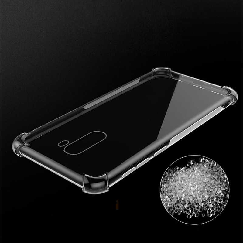 Airbag shockproof clear soft tpu phone case for xiaomi pocophone F1 poco pokophone Transparent soft silicone back cover coque