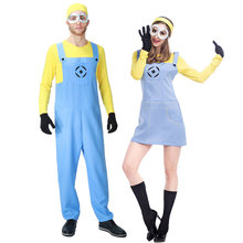 Umorden Movie Despicable Me Costumes Minion Costume for Men Women Minions Cosplay Funny Yellow Guy Fancy Dress Couple