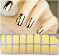 2015 New hot Fashion Smooth Gold Foil Armour Nail Sticker Art Decoration Sticker Patch Wraps professional R0501