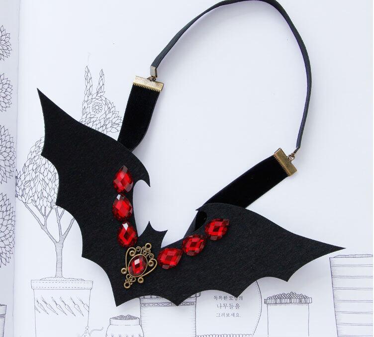 Halloween Cosplay Demon Vampire Black Red Rhinestone Headbnads Night Club Queen Hairbands Girl Travel Hair Accessory