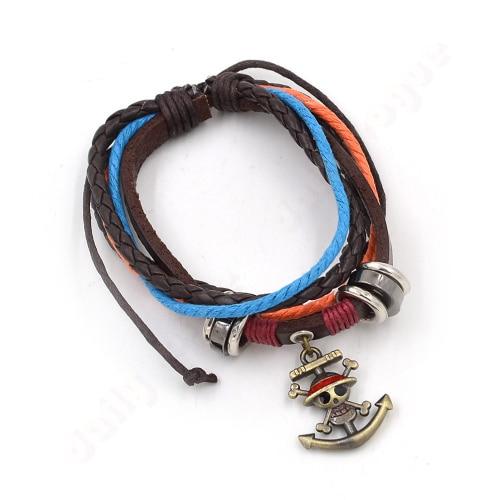 Anime One Piece Men Women Unisex Drawstring Rope Chain Bracelet Pendant