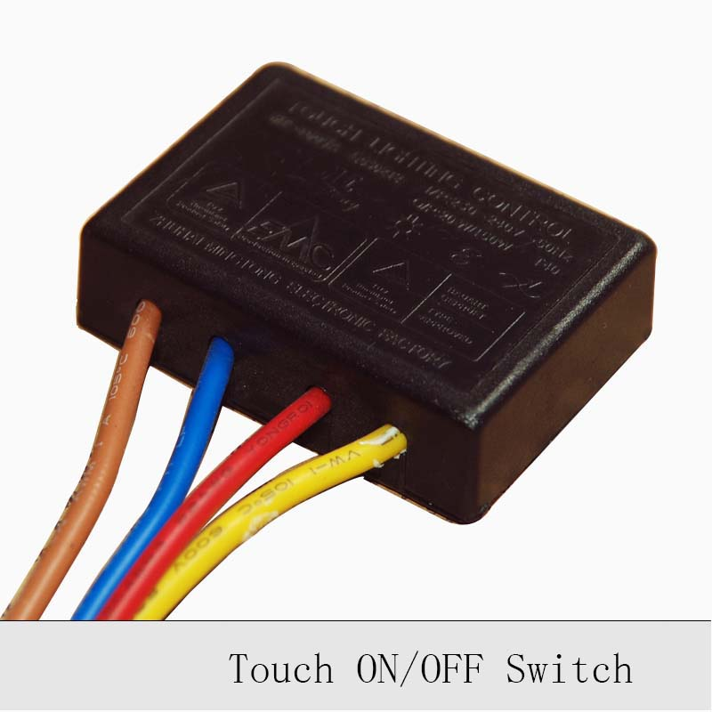 1PC 220V 150W Lamp Touch Switch Touch ON/OFF Sensor Switch Table Lamp Lightning Protection Interference Dimmer Dimming Switch bqlzr 4 mode on off touch dimmer switch xd 613b for glass body led lamp