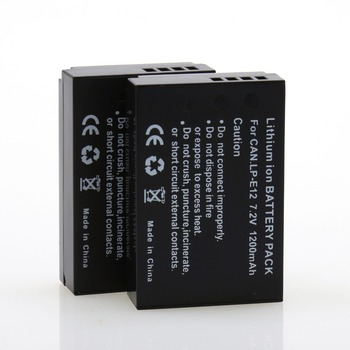 2Pcs 7.2V 1200mAh LP-E12 LPE12 LP E12 Rechargeable Battery For Canon M 100D Kiss X7 Rebel SL1 EOS M10 DSLR Camera Wholesales