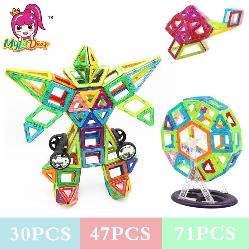 Mylidear 71Pcs Normalna veličina Magnetic Model Blocks Građevinski - Izgradnja igračke - Foto 1