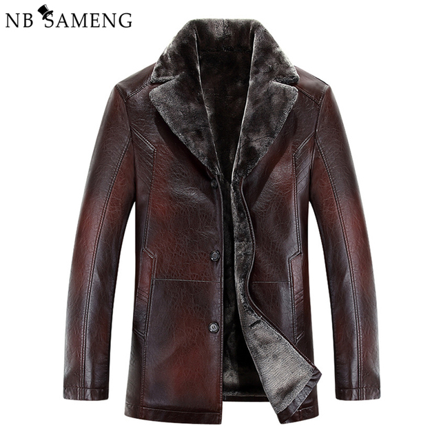 2017 New Arrival Top Quality Winter Single Breasted Hooded Leather Jacket Men Trench Coat Mens Leather Jackets And Coats 13M0676
