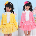 2017 New Fashion Spring Autumn Children Clothing Three Piece Suit Girls Princess Long-sleeve Dress Set 4- 8- 6-10 baby