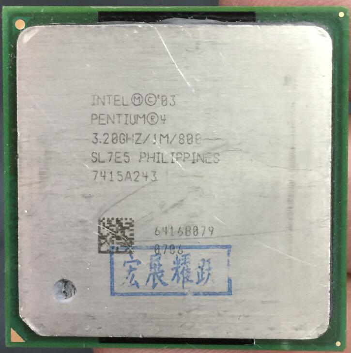 Intel Pentium 4 PC ordinateur P4 3.20 GHZ 1 M 800 SL7E5 NE P4 3.2 GHZ P4 3.2 3.2G 3.20G 3.2E CPU De Bureau processeur Socket 478