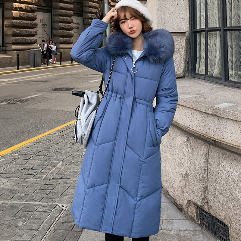 2019 Winter Thick Slim Fur Hooded Down Parkas Wear Winter Jacket Women Women Plus Size  Warm  Jacket