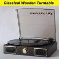 Old fashion Clásica Fonógrafo registros reproductor de Vinilo LP Tocadiscos gramófono Registro Classics Music máquina de transcripción