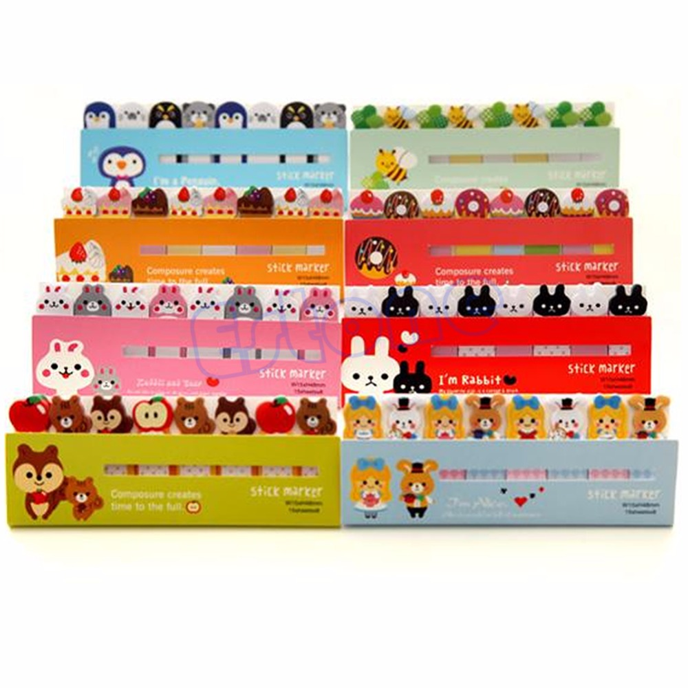 Funny Joy Sticker Post It Bookmark Memo Pad Marker Point Flags Stationery Sticky Notes Paper Planner W15