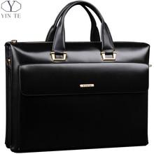 Erkek klasik ve zarif evrak çantası, basit ve pratik, her yer için, iş ve toplantı için en iyi seçim