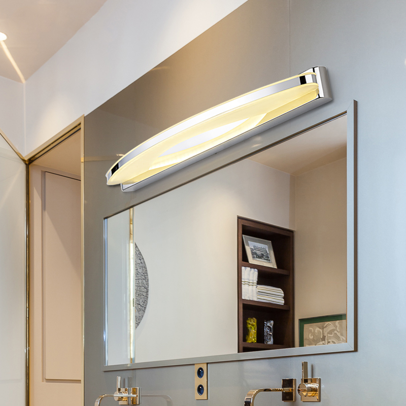 led mirror light Acrylic bedside lamp long bright LED anti-fog waterproof bathroom mirror lamp study bedroom lamp 40cm 12w acryl aluminum led wall lamp mirror light for bathroom aisle living room waterproof anti fog mirror lamps 2131