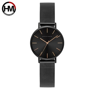 Image 5 - Hannah Martin Fashion Casual Women Watches Rose Gold Simple Ladies Watches Quartz Wristwatches relogio feminino Clock Gift Box